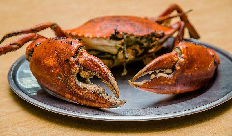 Grilled crab at Hing Ket Grill House at Kampung Jawa, Klang